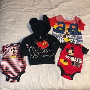 Mickey Mouse sweater with tee shirt and onesies